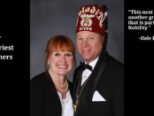2017 Saladin Shriners High Priest and Prophet Dale Kramer and his lady Carol.